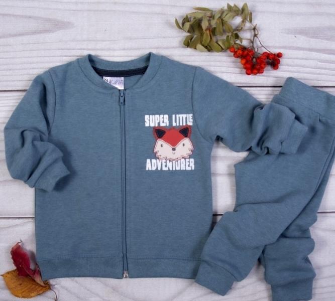 K-Baby Tepláková súprava Liška - petrolejová, vel.80-#Velikost koj. oblečení;80 (9-12m)