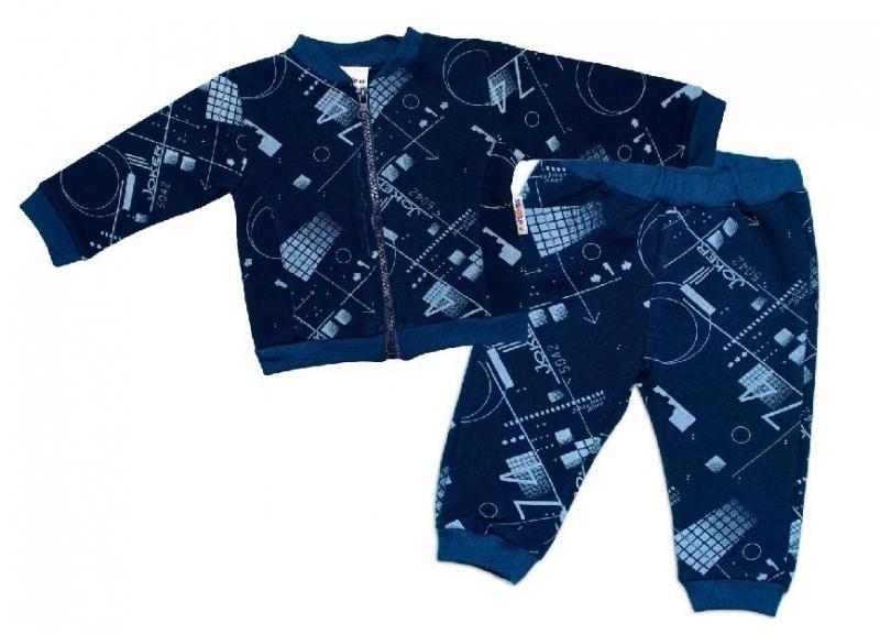 BABY NELLYS Tepláková súprava COOL, modrá, veľ. 74