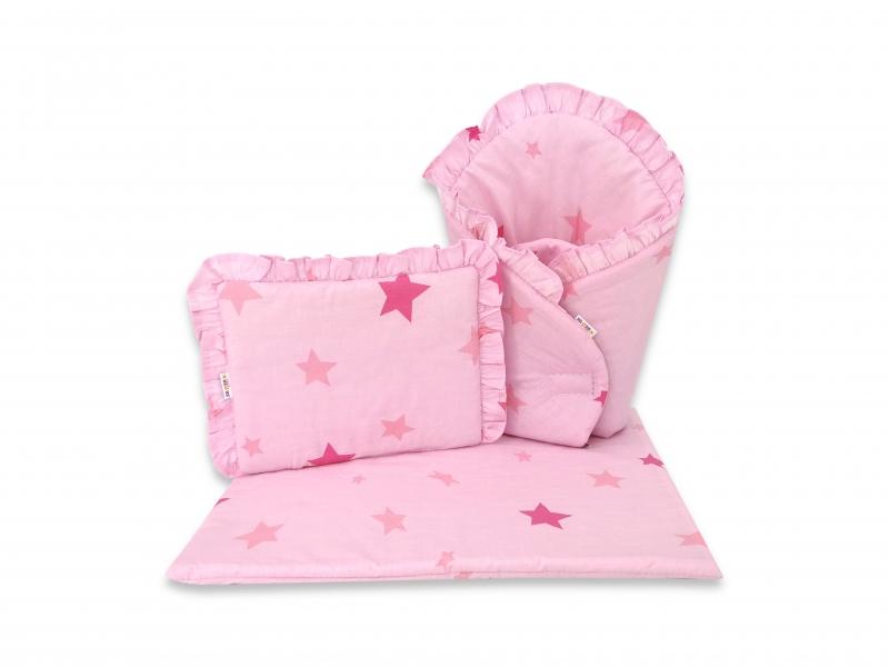 Baby Nellys Luxusná súprava pre bábiku, zavinovovačka, perinka a vankúšik, Baby Star