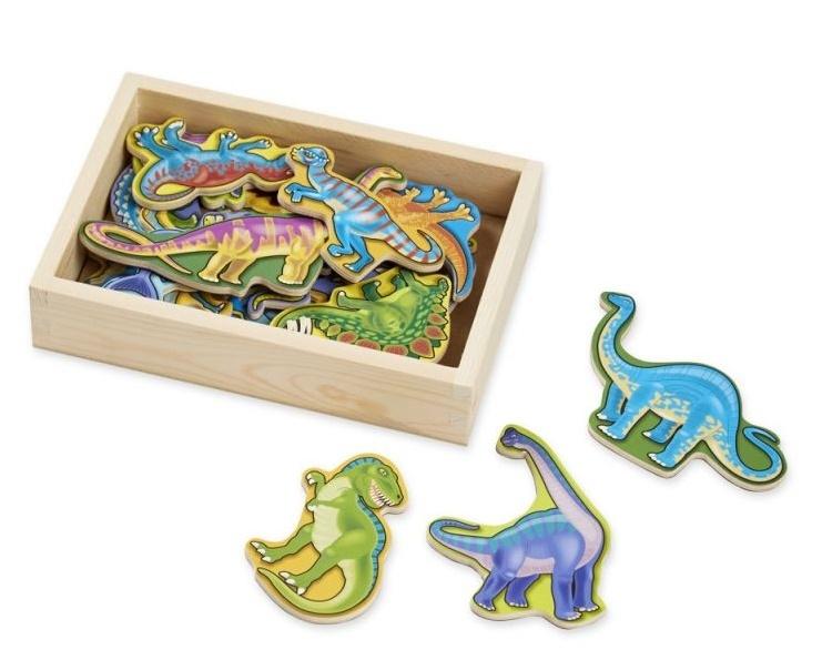 NEFERE Drevené magnetky - Dinosaury