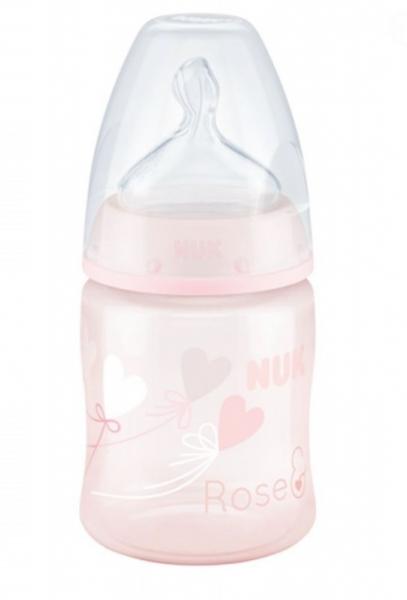 Fľaštička NUK Baby Rose 150 ml, ružová