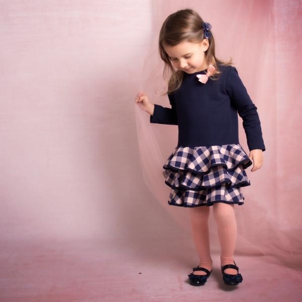 Detské šatôčky Karko mašlička, ružová, veľ 92