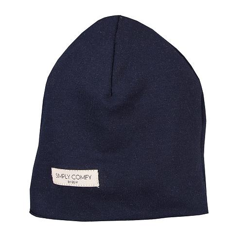 EEVI Detská jarná / jesenná bavlnená čiapka - Simply Comfy - granátová, vel. 42-44 cm.