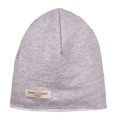 EEVI Detská jarná / jesenná bavlnená čiapka - Simply Comfy - sivá, veľ. 40-42