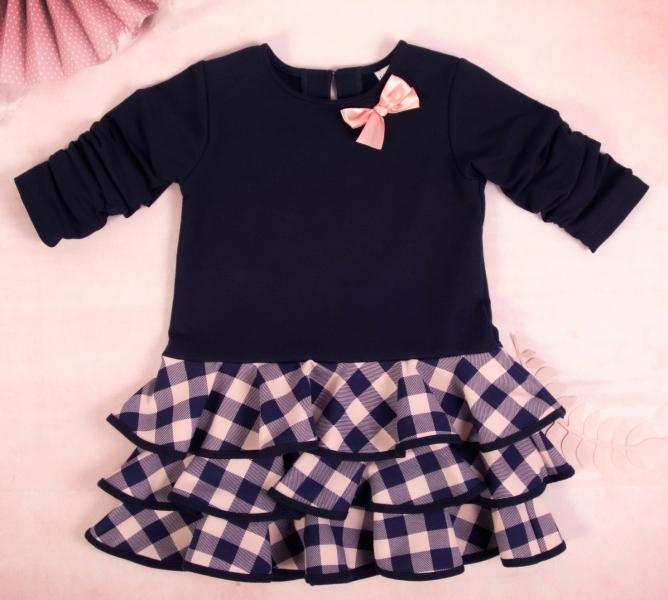 K-Baby Detské šatôčky Karko mašlička, ružová, veľ. 110