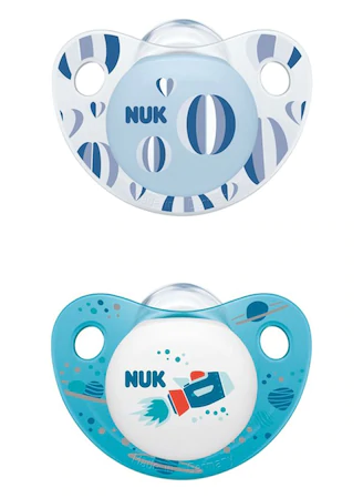 NUK Symetrický silikónový cumlík chlapčenský - 0-6m +