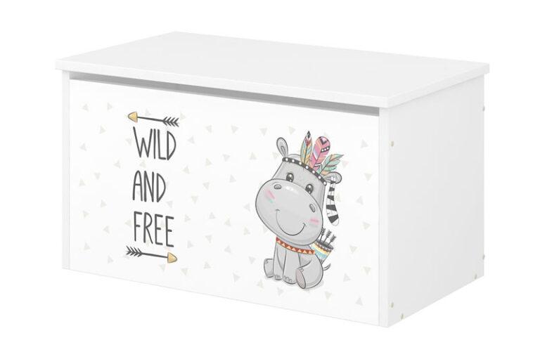 Babyboo Box na hračky s motívom Hippo