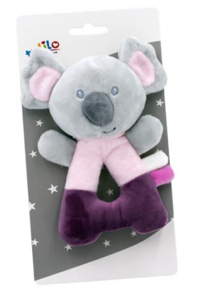 Tulilo Plyšová hrkálka Koala - ružová