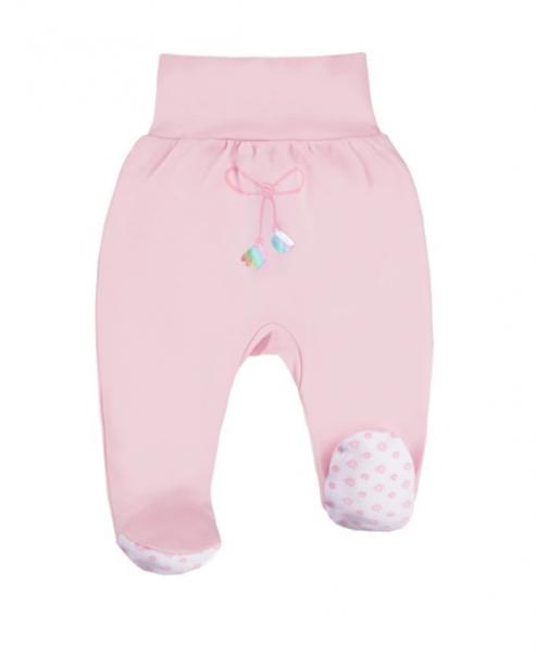 EEVI Dojčenské polodupačky Mašlička - růžová