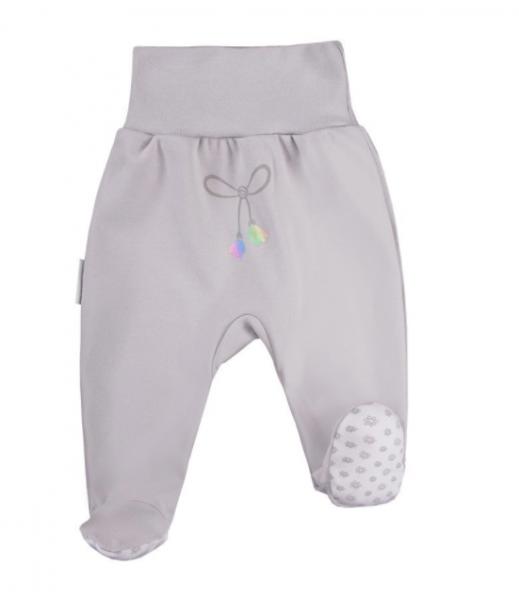 EEVI Dojčenské polodupačky Mašlička - sivá