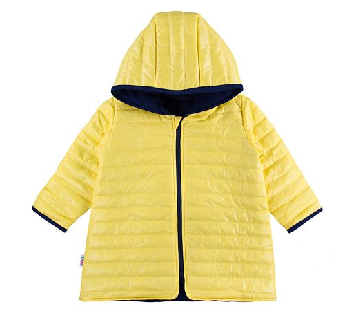 EEVI Detská prechodová, prešívaná bunda s kapucňou - žltá-#Velikost koj. oblečení;116