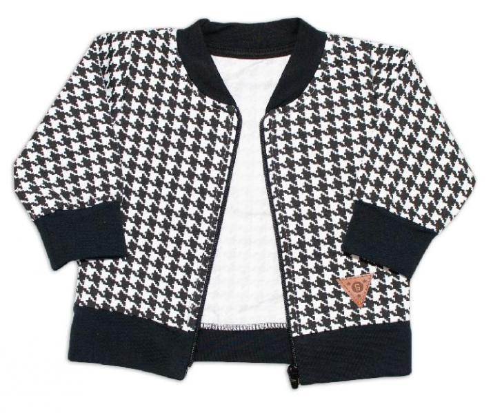 Kojenecká bavlnená tepláková súprava KARKO - čierno, biela, veľ. 80