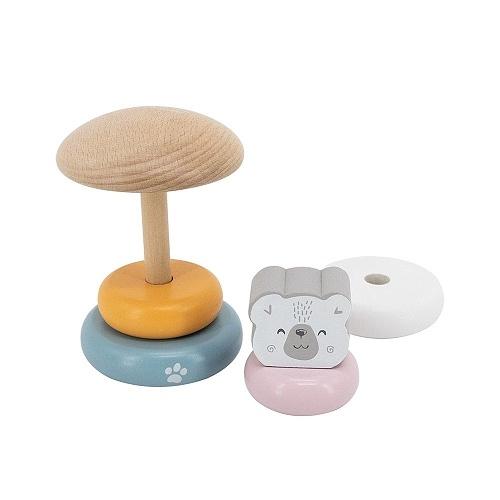 Viga Edukačná drevená mini veža - Medveď