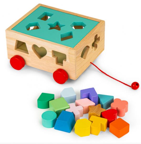 ECO TOYS Edukačná drevená vkladačka - Kocka