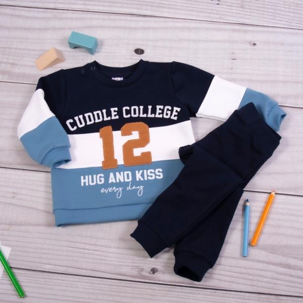 K-Baby Tepláková súprava College - granát/modrá, veľ. 86-#Velikost koj. oblečení;86 (12-18m)