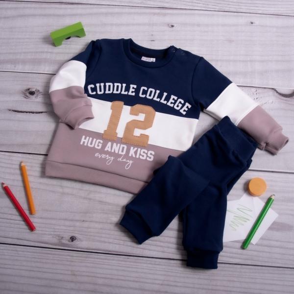 K-Baby Tepláková súprava College - granát/cappuccino-#Velikost koj. oblečení;68 (4-6m)