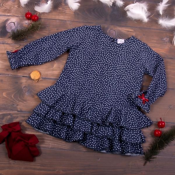 K-Baby Detské šatôčky Puntík - granát, veľ. 104