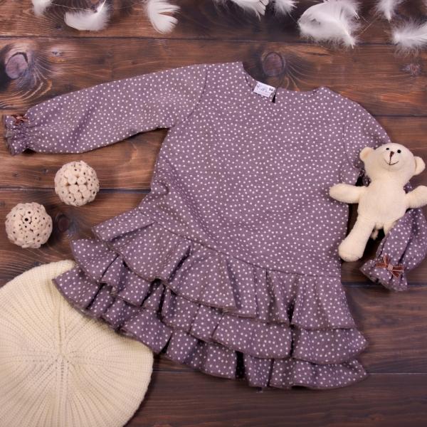 K-Baby Detské šatôčky Puntík - cappuccino-#Velikost koj. oblečení;80 (9-12m)