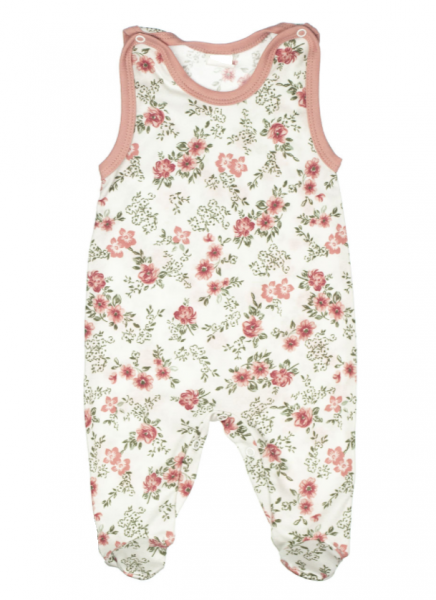 Baby Dojčenské bavlnené dupačky - ROSE, púdrová, veľ. 68