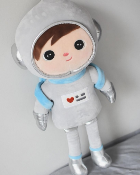 Handrová bábika Metoo Kosmonaut  - sivá