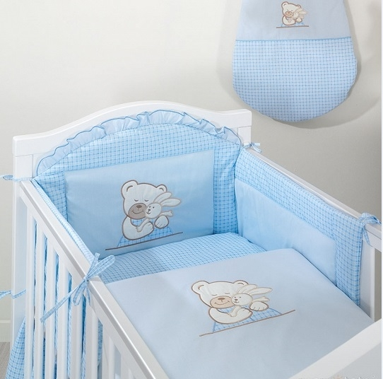 Mantinel s obliečkami TULITULI modrý 120x90