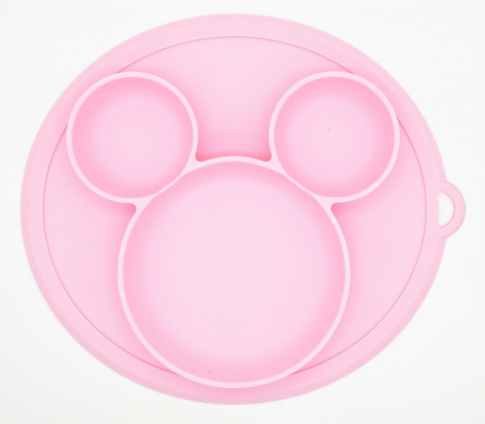 Baby in World Silikónová miska - ružová