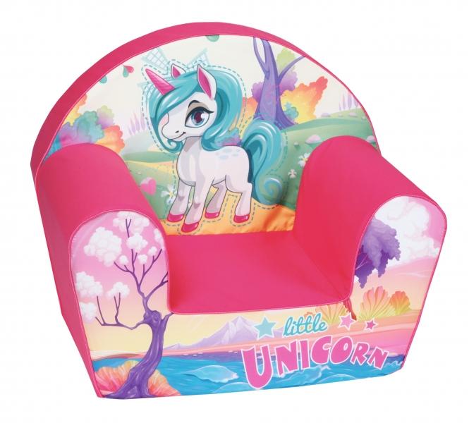 Delsit Detské kresielko - Unicorn pink