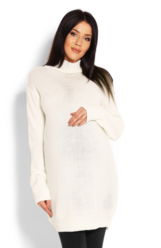 Be Maamaa Tehotenský sveter, tunika - krémový