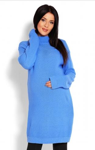 Be Maamaa Tehotenský sveter, tunika - modrá