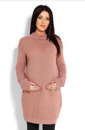 Be Maamaa Tehotenský sveter, tunika - cappucino