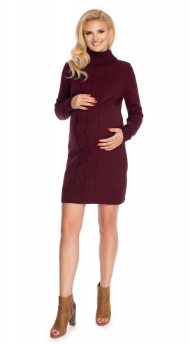Be Maamaa Tehotenské šaty - svetrové, bordo