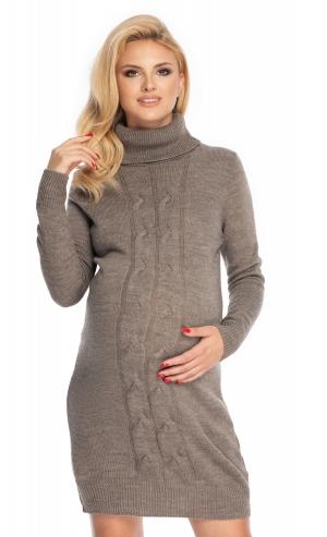 Be Maamaa Tehotenské šaty - svetrové, šedé