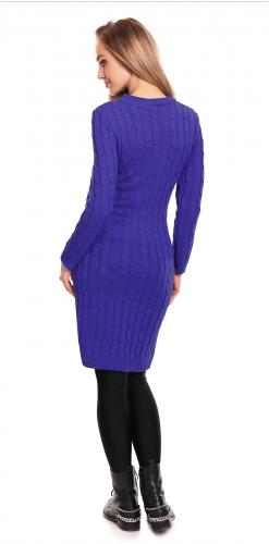 Be Maamaa Tehotenské, pletené šaty - fialové