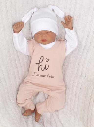 Z & Z 5-dielna kojenecká súpravička Hi I am new here - staroružová