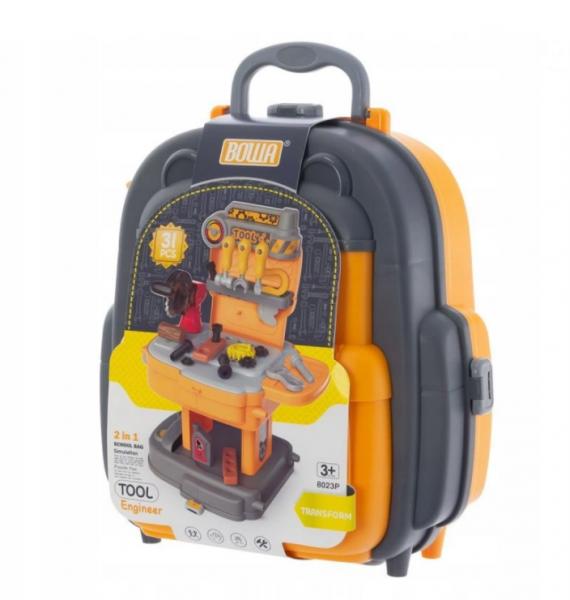 Euro Baby Detský kufríkový batoh - Náradie, 2v1