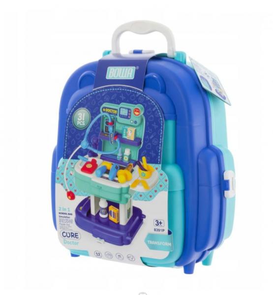 Euro Baby Detský kufríkový batoh - Doktor, 2v1
