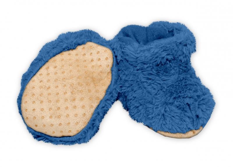 YO! Zimné chlupáčkové topánočky / capáčky YO! - tm. modrá, 0-6m