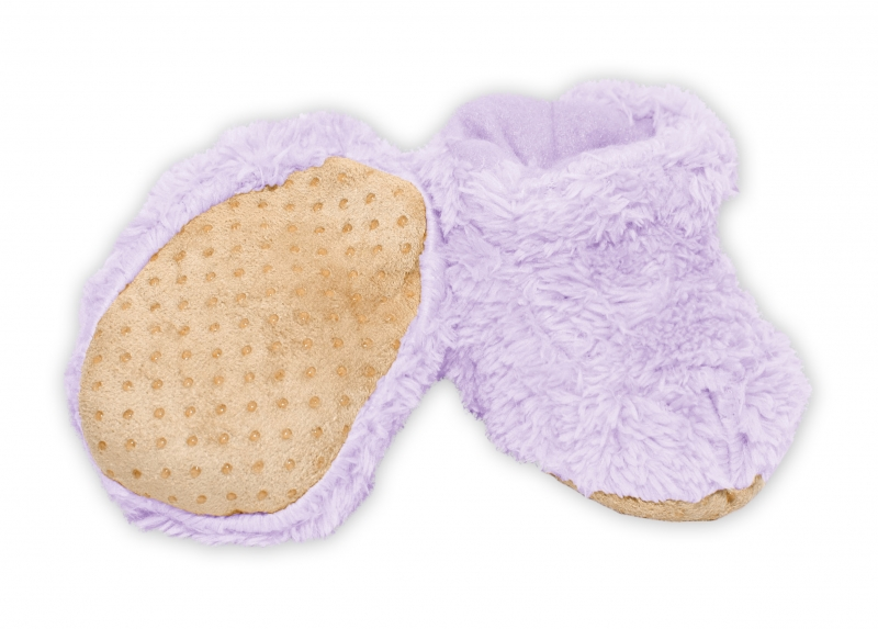 YO! Zimné chlupáčkové topánočky YO! - fialová, 0-6m