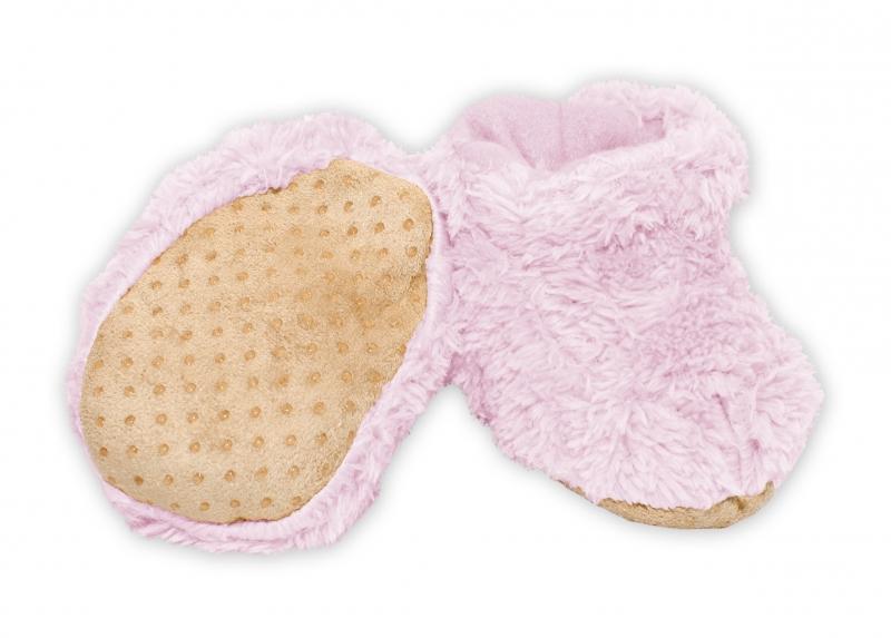 YO! Zimné chlupáčkové topánočky YO! - sv. ružová, 0-6m