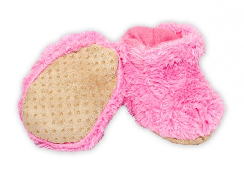 YO! Zimné chlupáčkové topánočky / capáčky YO! - ružová, 0-6m