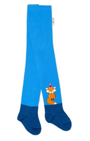 Detské pančuchy bavlnené Fox, jeans-modrá, 1ks, veľ 62/74