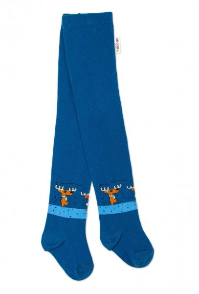 Baby Nellys Detské pančuchy bavlnené Los, jeans, 1ks, veľ. 92/98-#Velikost koj. oblečení;92/98