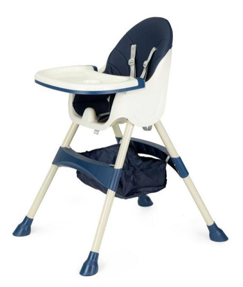 ECO TOYS Jedálenská stolička, stolček 2v1 - modrá
