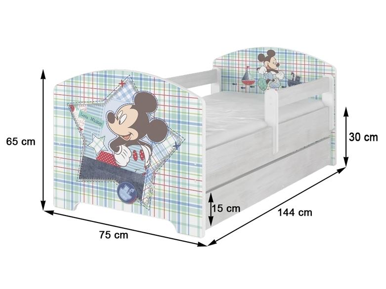 NELLYS Detská posteľ + ŠUPLÍK  Macička ruzova vo farbe nórskej borovice + matrac., 160x80 cm
