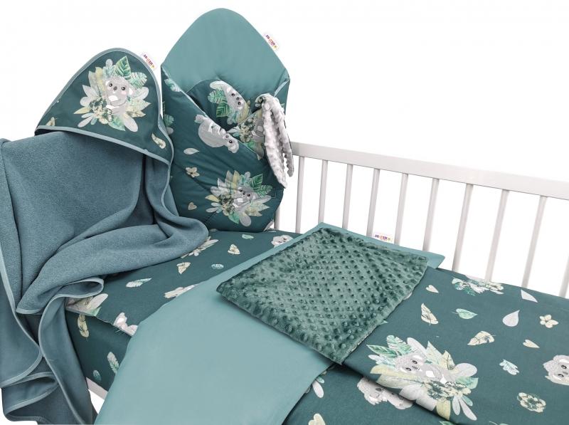 Baby Nellys 6-dielna výhod. súprava pre bábätko,135 x 100, Tropical Koala - zelená
