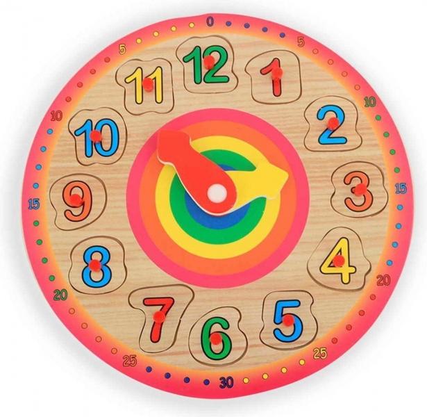 Drevená vkladačka hodiny 23 cm