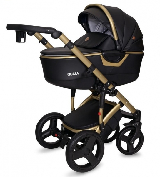 Kočík Coto Baby 2 v 1 QUARA Eco 2021 - čierny/gold
