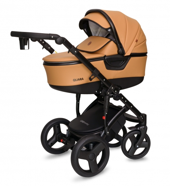 Kočík Coto Baby 2 v 1 QUARA Eco 2021 - karamel, čierny