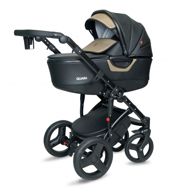 Kočík Coto Baby 2 v 1 QUARA Eco 2021 - black Gold Eco