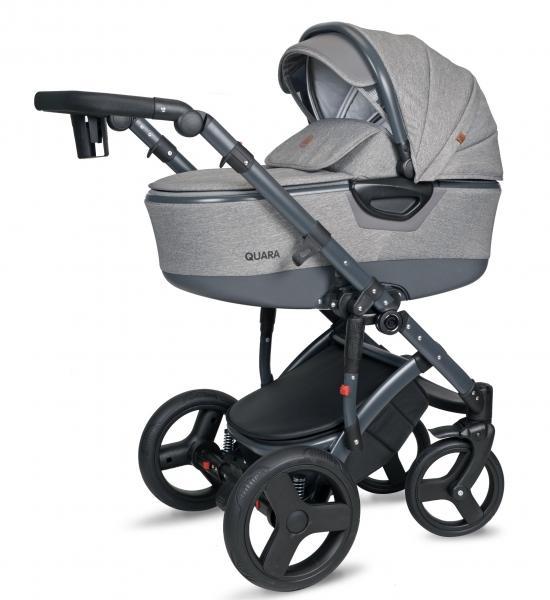 Kočík Coto Baby 2 v 1 QUARA Eco 2021 - Len gray dark Eco